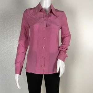 Gucci woman pink blouse size xs